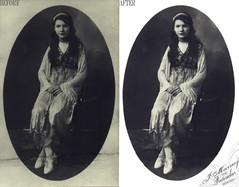 My Great Nan [Restored] (Jam-Gloom) Tags: family vintage familyhistory restoration photorestoration retouching photoretouching