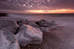 A hard place (Through Bri`s Lens) Tags: longexposure seaweed sussex rocks shingle rocky pebbles lancing brianspicer leefilters canon5dmk3 sunrisebeachlow canon1635f4
