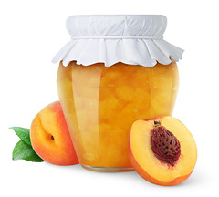 Peach jam (tigercop2k3) Tags: red food white glass yellow stone closeup fruit paper dessert leaf juicy healthy sweet cut traditional peach fresh gourmet container delicious homemade slice canned half jar jelly apricot studioshot organic sliced jam preserve nectarine isolated marmalade crosssection ripe ingredient russianfederation