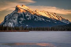Rundle Sunset (mnenson) Tags: winter snow canada mountains nature seasons lakes alberta environment banff geography nationalparks banffnationalpark vermillionlakes naturalphenomena