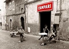 E' L'ora del Campari (gianco4) Tags: lambretta romano rosso tavolo bassano campari