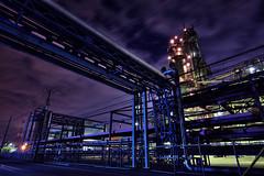Fortress () Tags: light plant highresolution factory pipe illumination production nightview kanagawa  pipeline  ff7 inorganic    finalfantasy7       ukishima