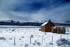 Storm Behind (rcollins42) Tags: winter sky snow storm mountains cold ice nature beautiful beauty canon fence photography cabin colorado exploring wide snowstorm explore reid 5d behind 24mm collins approaching 24105mm 5dmarkiii rcollins42