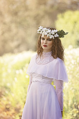 Beauty in the garden (Michelle Hughes Walsh Photography) Tags: flowers woman beauty photography model garland weddingdress