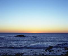 view from high way 1 (-Alberto_) Tags: sunset seascape 120film pentax6x7 kodakektar 6x7format