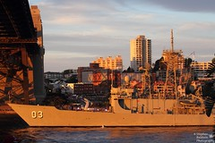 IMG_3807 - HMAS Sydney (Stephen Baldwin Photography) Tags: city bridge sunset water landscape harbour 04 review sydney australia international nsw fleet hmas 2013
