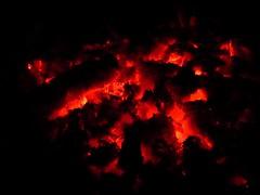 Ember (roberta_souza91) Tags: shadow red night contrast canon dark fire close vermelho ember fogo escuro canonpowershot escurido brasa