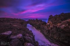 Hervideros (Hazel Rodrguez) Tags: ocean longexposure bridge sunset sea sun water colors clouds landscape nikon rocks natural sigma lanzarote iso manual 1020 canaryislands d5100