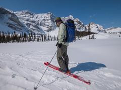 Skiing to Crowfoot Pass, Banff National Park, Alberta (Cwep) Tags: canada skiing location alberta activity banffnationalpark aspect 2011 4x3 crowfootpass