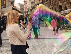 Hands on (phillipbonsai) Tags: prague bubble czechrepublic streettheatre