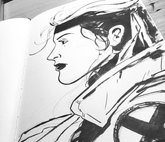 Sketchbook (Davidjwilson) Tags: art comic noir drawings sketchbook xmen mutant rogue marvel marv sincity redsonja deadpool