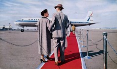 Red Carpet Service, United Air Lines (SwellMap) Tags: architecture plane vintage advertising design pc airport 60s fifties aviation postcard jet suburbia style kitsch retro nostalgia chrome americana 50s roadside googie populuxe sixties babyboomer consumer coldwar midcentury spaceage jetset jetage atomicage