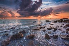 A golden sunset before storm (Ateens Chen) Tags: ocean light sunset sea cloud seascape nature rock landscape nikon wave lee ateens d810 afsnikkor1424mmf28ged