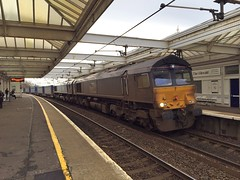 Troon - 06-02-2016 (agcthoms) Tags: station scotland trains railways troon ayrshire class66 drs directrailservices