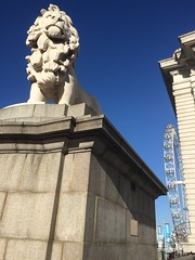 London I spy (markshephard800) Tags: england london statue lion londoneye bluesky ferriswheel glc countyhall westminsterbridge