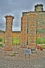 Argyle house pillars at the Community Garden in Portobello, Scotland (Joseph Lanzon) Tags: stone garden scotland edinburgh pillar gimp portobello coade