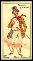 Cigarette Card - Mark Tapley (cigcardpix) Tags: vintage advertising ephemera dickens cigarettecards