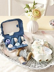 Egg Carton Gift Packaging (Heath & the B.L.T. boys) Tags: bird crafts vase tray wicker eggcarton