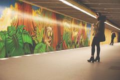 the (concrete) jungle is watching you (Artur Wala) Tags: people berlin girl subway concrete metro smartphone jungle ubahn alpha generation 6000 tarsier koboldmaki
