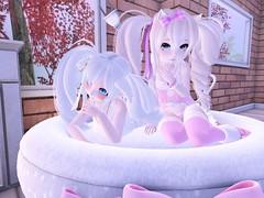 kittens ^^ (Yukiterudiary) Tags: life anime cute cat bed sl kawaii second m3 altair kemono