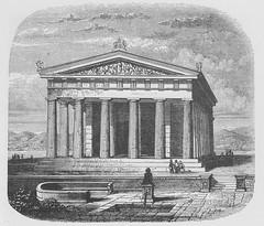 Temple, Pan-Hellenic Zeus, Aegina (Restoration) - Ancient Travels c1880 (AndyBrii) Tags: ancient travels 1880 restorations