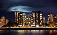 City Lights (Clayton Perry Photoworks) Tags: winter panorama canada skyline night vancouver reflections lights bc grousemountain explorebc explorecanada