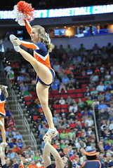 CHEERIN' FOR THE WAHOOS (SneakinDeacon) Tags: basketball acc cheerleaders pirates tournament hampton ncaa uva wahoos cavaliers marchmadness hoos meac pncarena