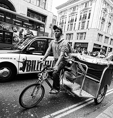 "Rickshaw in London • <a style=""font-size:0.8em;"" href=""http://www.flickr.com/photos/45090765@N05/25719281892/"" target=""_blank"">View on Flickr</a>"