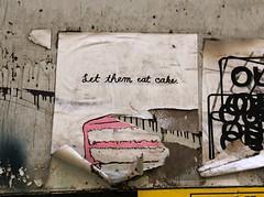 Let them eat cake (Goggla) Tags: street new york nyc art cake graffiti village east eat them let