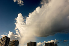 Storm Tracker (Andy Marfia) Tags: blue sky chicago storm beach rain clouds buildings spring condos f8 edgewater hollywoodbeach iso125 1640sec kathyostermanbeach sonyrx100