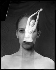 emily (Stefan Lux) Tags: portrait film monochrome female studio nude blackwhite kodak doubleexposure trix hamburg f2 expired modell largeformat sinar schneiderkreuznach sheetfilm symmars 240mm fffotoschule