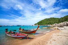 IMG_9035_edited-1 (Lauren :o)) Tags: ocean blue sea sky beach clouds thailand island boat paradise kohtao longtail longtailboat turtleisland desertisland