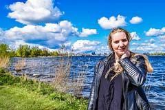 Kim Lobbezoo 14 (M van Oosterhout) Tags: portrait people woman sun lake holland cute netherlands girl beautiful face fashion female clouds model pretty photoshoot modeling stunning editorial