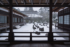 winter garden (k n u l p) Tags: winter snow garden temple sony koyasan 高野山 金剛峰寺 1670mm nex7 sel1670z