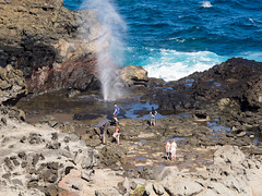 looking down on the blowhole (dolanh) Tags: ocean hawaii maui nakaleleblowhole kahekilihighway