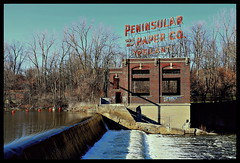 Peninsular Paper in Ypsilanti (Rantes) Tags: abandoned river dam michigan ypsilanti washtenow