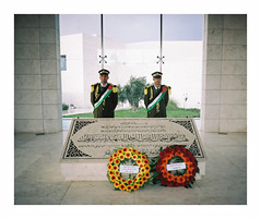 (iconicturn) Tags: 120 mamiya film grave analog mediumformat soldier kodak palestine westbank ramallah guard middleeast mausoleum soldiers analogue 6x7 guards marvel portra arafat palestina mamiya7