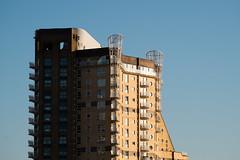 Po Mo Living (photosam) Tags: england london architecture raw postmodern unitedkingdom telephoto highrise housing fujifilm docklands modernist lightroom towerhamlets xe1 fujifilmx xc50230mmf4567ois xc50230mm14567ois
