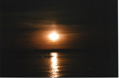 Film19 (ShipOfThunder) Tags: sea film car 35mm canon lights pier seaside exposure doubleexposure double dorset a1 filmcamera canona1 35 triple bournemouth sandbanks poole tripleexposure