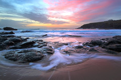 Poldhu Cove Sunset (Andrew Hocking Photography) Tags: sunset sky beach clouds evening cornwall outdoor mullion poldhu
