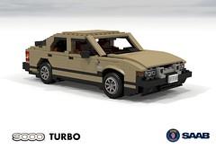 SAAB 9000 Turbo (1986) (lego911) Tags: auto car model lego sweden render turbo hatch 1986 1980s saab cad 9000 hatchback swede povray moc ldd miniland type4 foitsop lego911