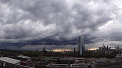 Clouds over Frankfurt (whilbl) Tags: clouds wolken regen rain skyline frankfurt ezb ecb storm sturm
