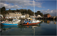 Padstow (Audrey A Jackson) Tags: sky colour clouds buildings reflections cornwall harbour padstow canon60d