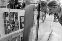 Sjop in shop (While Making Other Plans) Tags: street new york newyork reflection apple window shop big photographer bookstore vivian shopwindow bigapple maier