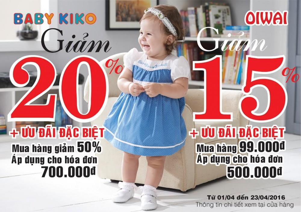 Thời Trang Trẻ Em Babykiko - Oiwai Siêu Khuyến Mãi Tháng 4