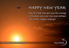 Happy New Year up in the sky! May you always be blessed with contentment, peace and abundance. Pakistan Zindabaad! (SalmanFalcons) Tags: pakistan sunset flying force air paf aviationphotography pakistanairforce