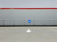 ... scelte (Rino Alessandrini) Tags: urban signs muro wall steel empty parking directions arrows urbano choice crossroad periferia parcheggio decisions frecce acciaio segnali geometrie periphery indecision vuoto bivio geometries scelta direzioni indecisione decisioni
