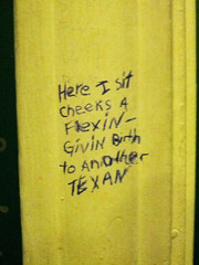 Toilet Humor (Exile on Ontario St) Tags: new usa wall bathroom graffiti words orleans louisiana comedy sitting texas cheek unitedstates south united neworleans humor toilet toilette humour poop restroom states nola written toilets nouvelle cabinets toilettes pooping dirtysouth louisiane vulgar orléans toilethumor defecation toilethumour givingbirth nouvelleorléans scatological lanouvelleorléans