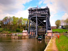 The gigantic Anderton Boat Lift. (Humble Tommy) Tags: uk river boat canal lift cheshire cargo trent weaver mersey anderton