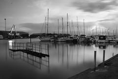 Smooth (adrianwoolgar) Tags: longexposure sea blackandwhite bw water port boats canal dock sailing jetty smooth quay adur shoreham quayside